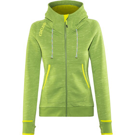 Edelrid Blockstar Zip Hoodie Damen green pepper